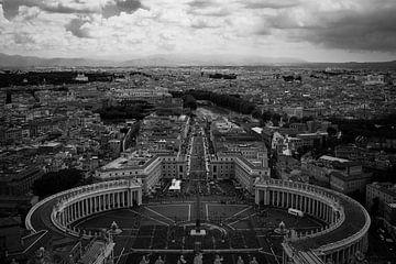 Blick über Vatikan und Rom von Ben Hoedt