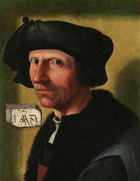 Porträt von Jacob Cornelisz van Oostsanen, Jacob Cornelisz. van Oostsanen (Studio von), um 1533 von Marieke de Koning