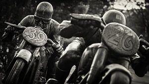 Black and White Photography: AVUS Berlin / Motorradfahrer