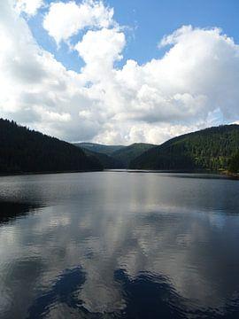 Spiegeling in het meer von Wilma Rigo