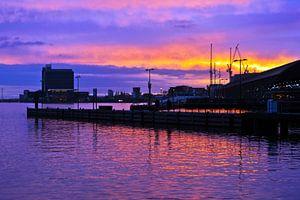 Morgendliche Skyline von Amsterdam von
