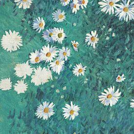 Bed van madeliefjes, Gustave Caillebotte (1/4) van Meesterlijcke Meesters