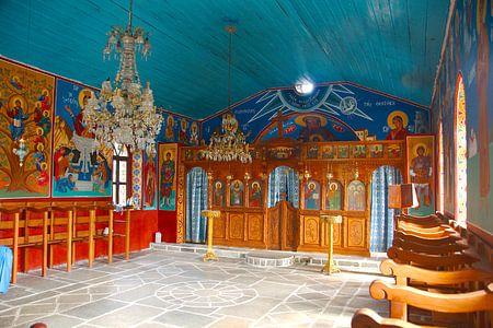 Schilderingen in Grieks klooster van Peter Schoo