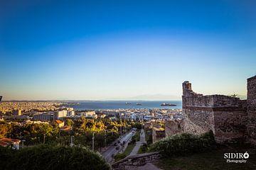 Zonsondergang Thessaloniki, Griekenland van Gabriella Sidiropoulos