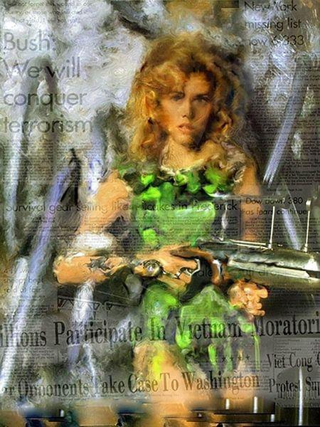 Barbarella Jane Fonda Jane Fonda Pop Art van Leah Devora