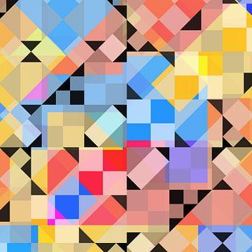 Bauhaus stijlen 12222 ruit, blauw en... van Claudia Gründler