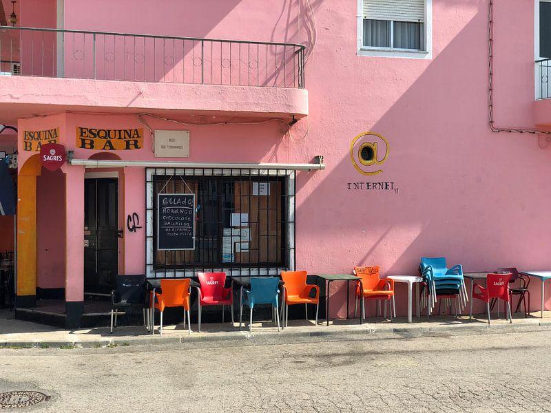 Faro Portugal cafe van Henriette Tischler van Sleen