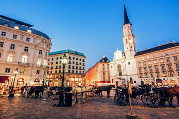 Vienna - Michaelerplatz Square van Alexander Voss