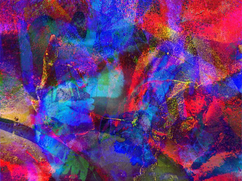 Modern, Abstract kunstwerk - Walking The Wire van Art By Dominic
