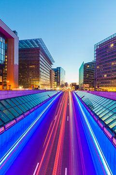 Europaviertel in Brüssel am Abend von Werner Dieterich