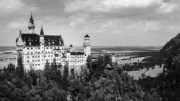 Neuschwanstein in Zwart-Wit