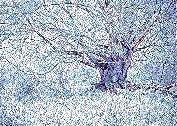 Winterboom Mozaïek van Joop Snijder