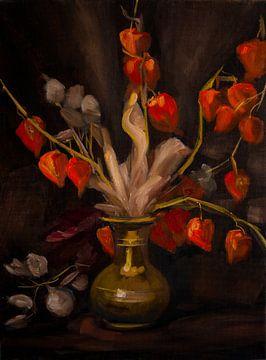 Blumenbouquet-Malerei von Alvin Aarnoutse