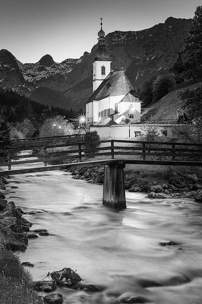 Kirche St. Sebastian, Ramsau, Süddeutschland von Henk Meijer Photography