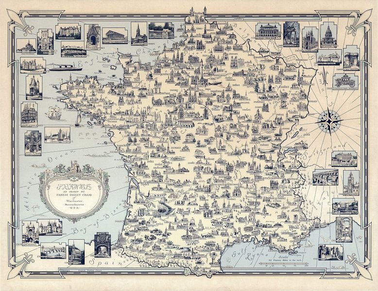 Frankrijk van World Maps