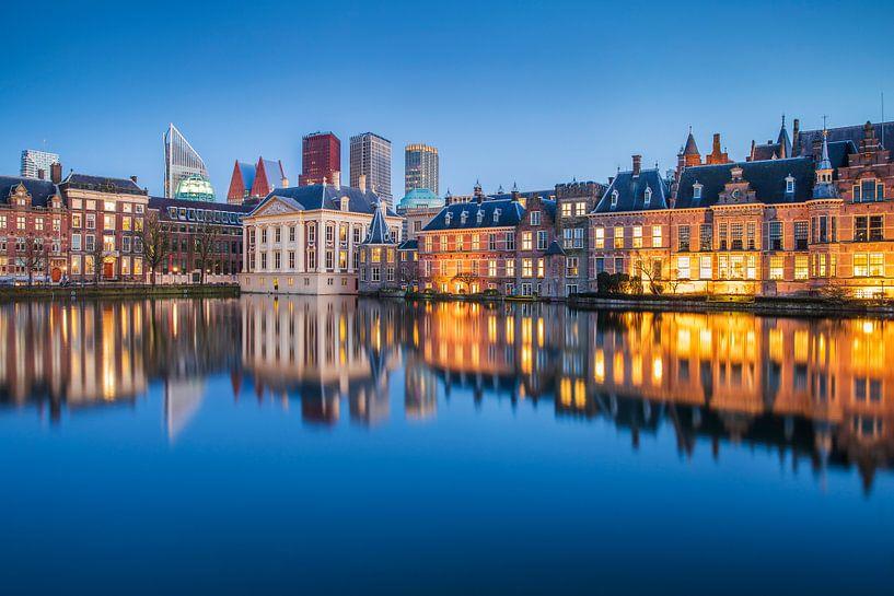 Hofvijver mit Innenhof in Den Haag von Eelco de Jong