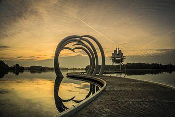 Kunstwerk Time Line in Slijk-Ewijk van Tina Linssen