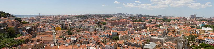 Panorama Lissabon Portugal van Jeroen Meeuwsen