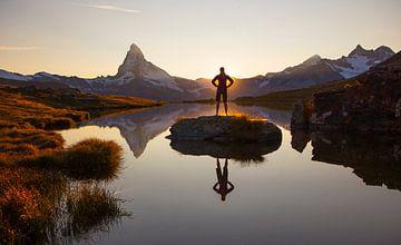 tbdAvondstemming bij de Matterhorn van