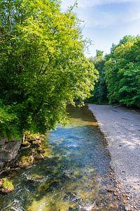 Rivière Traun près de la Poschmühle près de Traunreut sur Peter Baier