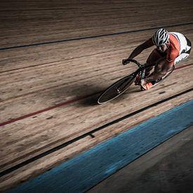 """Sport Hoofdprijs winnaar"""" Digiphoto Pro"""" Baanrenner sprinter van Marco Knies"""