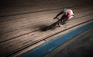 """Sport Hoofdprijs winnaar"""" Digiphoto Pro"""" Baanrenner sprinter"""