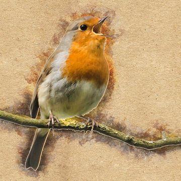 Jeder Vogel singt, wie es ihm gefällt (Kunst) von Art by Jeronimo