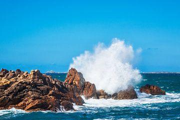 Atlantikküste in der Bretagne bei Ploumanach von Rico Ködder