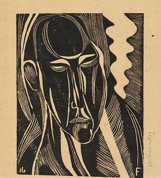 Modernes Porträt, Otto Freundlich von Atelier Liesjes
