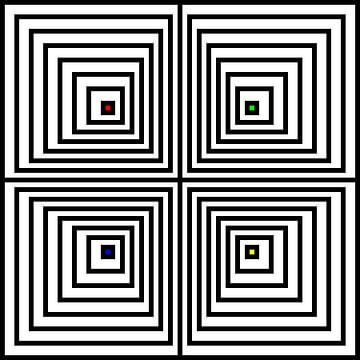 Genesteld | Compensatie | 02x02x02x02 | N=08 | V39 | RGBY van Gerhard Haberern