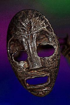 Zilveren masker van Jolanta Mayerberg
