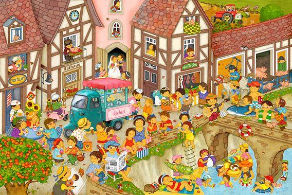 Mein Dorf im Sommer van Marion Krätschmer