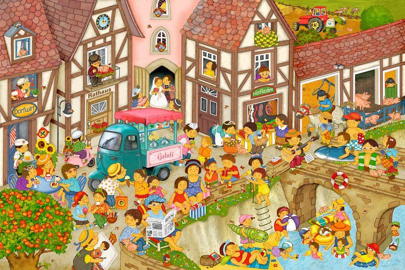 Mein Dorf im Sommer von Marion Krätschmer
