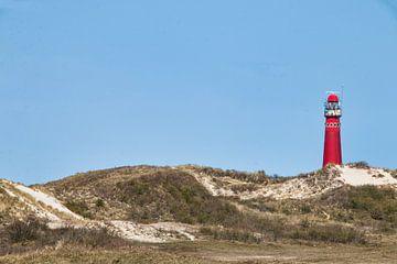 Roter Leuchtturm auf Schiermonnikoog von Annie Postma