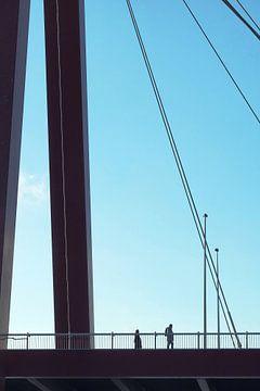 Willemsbrug Rotterdam van Bob Bleeker
