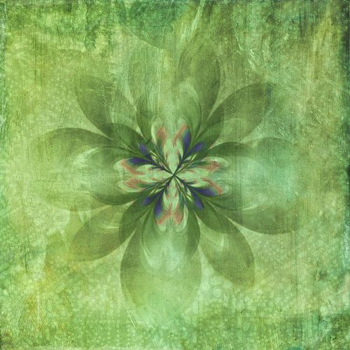 Vintage green flower