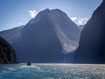 Een boottocht in Milford Sound van Rik Pijnenburg