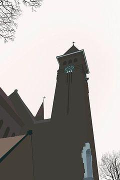 Herz-Jesu-Kirche Utrecht von Jadzia Klimkiewicz