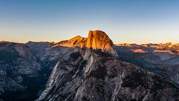 Half Dome met zonsondergang van Jack Swinkels