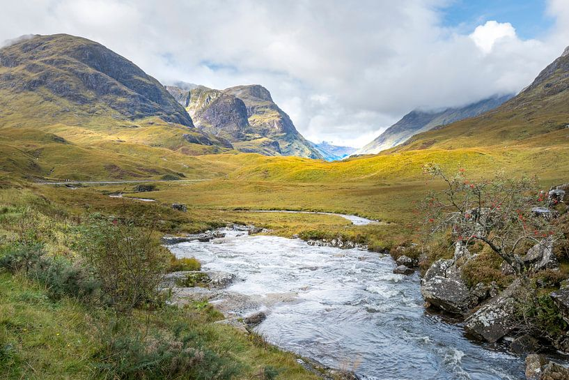 Three sisters bij Glencoe in Schotland von Rob IJsselstein