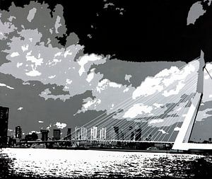 Rotterdam Erasmusbrug  van Larissa Beentjes