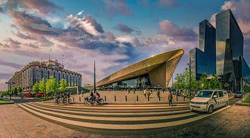 Rotterdam Hauptbahnhof Weitwinkel von Dennis Donders