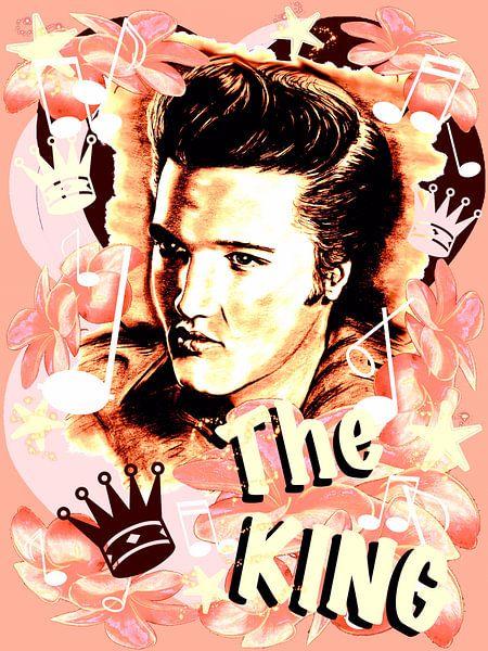 Elvis The King In Salmon-Rosé von Gitta Gläser