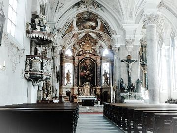 Rattenberg kerk in Oostenrijk van Joke te Grotenhuis