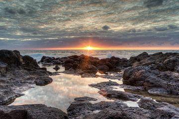 Sunset in Bajamar on Tenerife van Michael Valjak