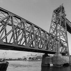 Spoorbrug De Hef in Rotterdam van MS Fotografie