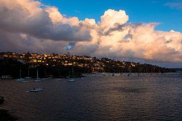 Sunset over Manly, Sydney von Tessa Louwerens