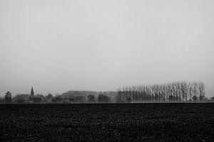 dorp in de regen