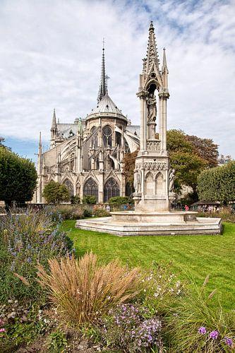 De Notre-Dame in Parijs, Frankrijk. van