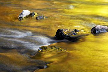 Stenen in de rivierbedding van Jürgen Wiesler